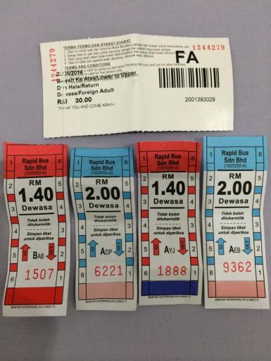 tiket bis dan Penang Hill